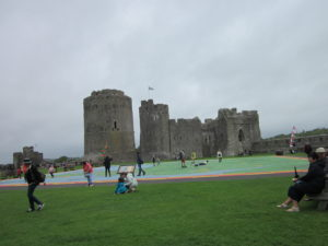 Pembroke Castle., Wales, scene of some of the action in the 'English' Civil War.