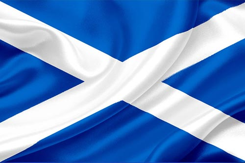The Saltire - the flag of the Scots