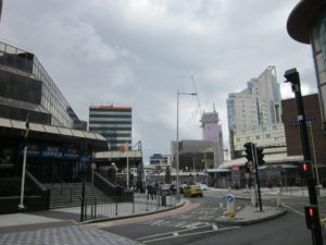 A modern part of Cardiff showing nothing historic